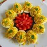 Яйца със средиземноморска плънка