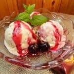 Домашен сладолед с черешово сладко