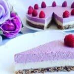Здравословна торта с малини