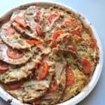 Пица от хляб със сос бешамел