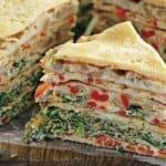 Торта от зеленчукови омлети