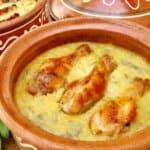 Пиле гювеч с настъргани картофи