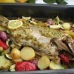 Ароматна риба със зеленчуци