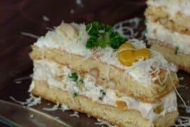 Солена фъстъчена торта