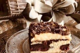 Топящ се в устата десерт с череши!