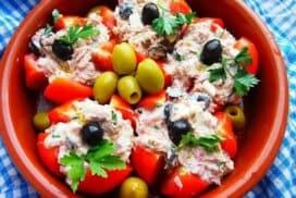Питателна салата с риба тон