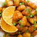 Специално предложение за любителите на по-нетрадиционните вкусове! Крехки парчета пиле в уникален портокалов сос!