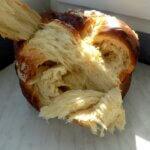 Разкошна рецепта за домашен козунак на страхотни конци, замесен в хлебопекарна. Всичко за приготвянето стъпка по стъпка!