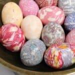 Писани яйца без боя или други оцветители? Възможно е, а резултатът е уникален!