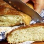 Мек като памук домашен хляб, който не се меси (вижте как се приготвя тук)