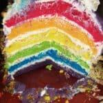 Отдавна се канех да приготвя торта с цветовете на дъгата. Получи се цветна, мека и много вкусна!