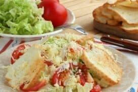 "Лека и апетитна салата ""Цезар"" с китайско зеле"