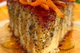 Изящен десерт с плътен портокалов вкус! Стархотен кейк, който се приготвя лесно и много вкусен!