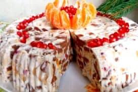 Сметанова торта без печене- ефектна дори без специални декорации!