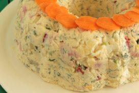 Фамозна картофена салата в кексова форма БЕЗ МАЙОНЕЗА