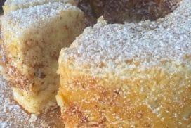 Всички у дома са луди по този сочен пандишпанов десерт с примамлив аромат на канела! За минути не остава нито една троха!