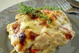 Леко пастицио с пиле и чушки- цветно, ароматно и много вкусно
