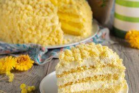 """Италианска торта """"Мимоза""""- ярко изкушение, на което не можете да кажете """"не''!"""