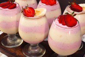 Въздушен летен плодов десерт: БЕЗ ЖЕЛАТИН, СМЕТАНА И ЯЙЦА